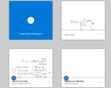 Class Notebook screen samples