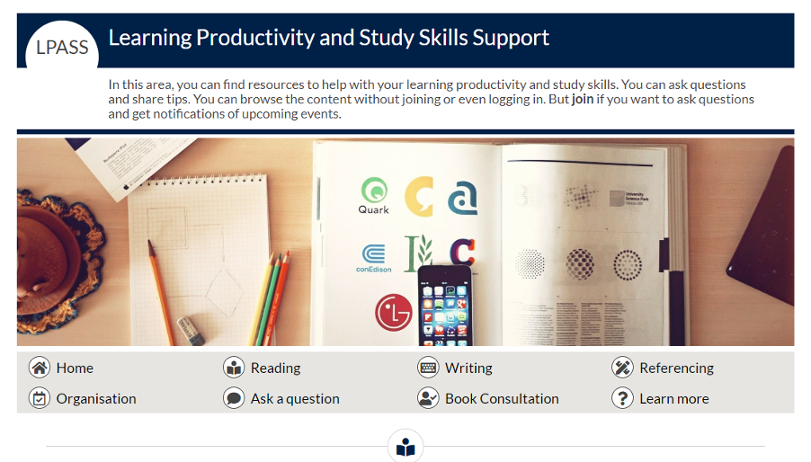 screenshot of learning productivity and study skills