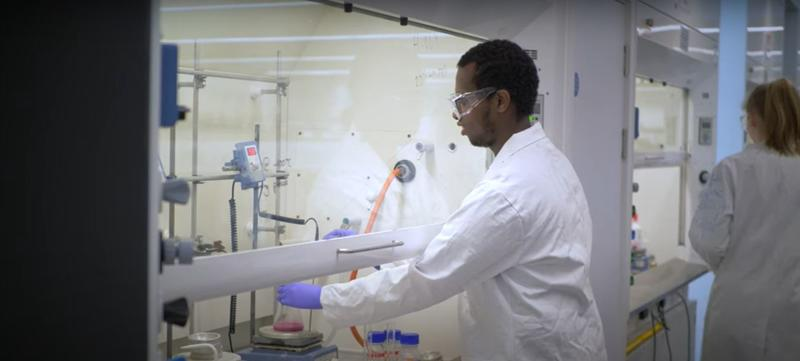 Image of a man in a chemistry lab