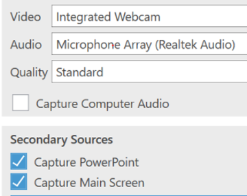 tools for screencasting and webcasting image